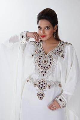 Dubai Kaftan Women Dress Long Gown Farasha Morocco jalabiya maxi Wear