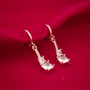 Alloy Stylish Stud Earrings For Women(Gold)