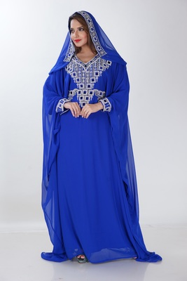 Dubai Kaftan Women Dress Long Gown Farasha Morocco jalabiya maxi Wear