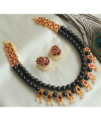 Beautiful Black Kemp Designer Necklace Set