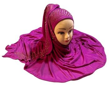 Justkartit Women'S Hosiery Cotton Stretchable Stone & Diamond Work Hijab Scarf Dupatta