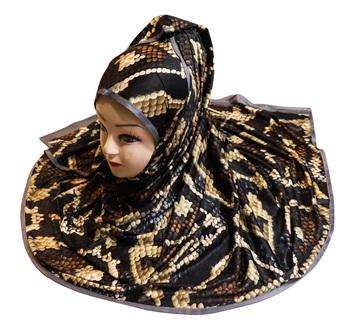 Justkartit Women's Digital Printed Organic Lycra Stretchable Hijab Scarf Dupatta