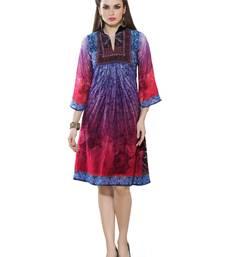 Women's Blue & Pink Georgette Amzing Designer Kurtis