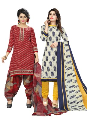 Maroon Printed Cotton Salwar