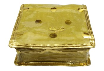 Shree Shyam Products Golden Small Pouch Jewellery Cosmetic Organizer Kit For Womens