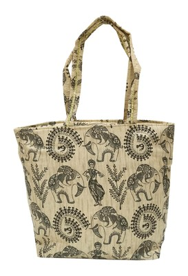 Shree Shyam Products Warli Printed Silk Bag with Zipper