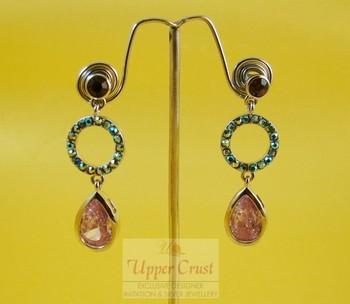 Lavender Rhinestone Crystal Vintage Earrings