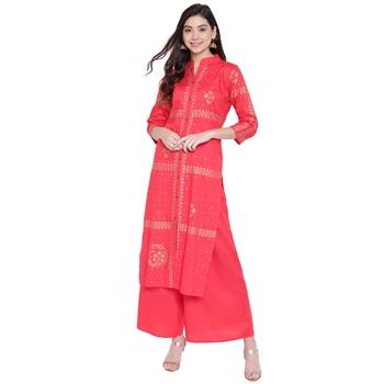 Red printed rayon kurtasandkurtis