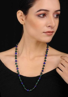 Green-Blue Beaded Necklace