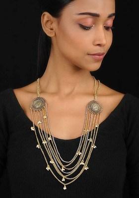 Dual Tone Multistrand Necklace