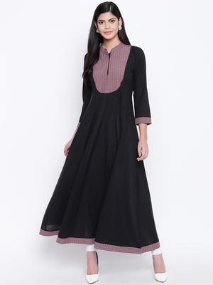 Black plain Cotton kurtis