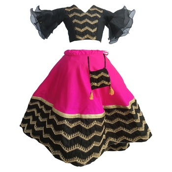 Black Rani,heavy emdroyred blouse indowestern,designer Lehenha choli  without chunni