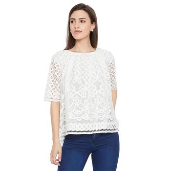 White woven Cotton tops