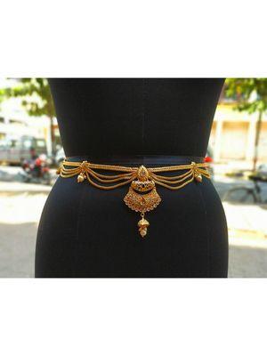Gold waist-belt