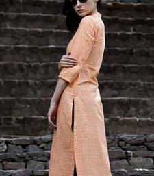 BUTTERSCOTCH & ORANGE KURTA