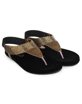 Do Bhai Women Copper Synthtic Flat Sandal