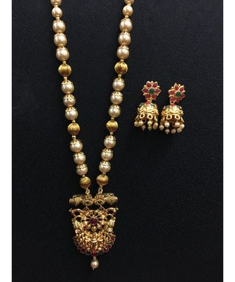 Gold Beaded Jewellery Necklace Sets