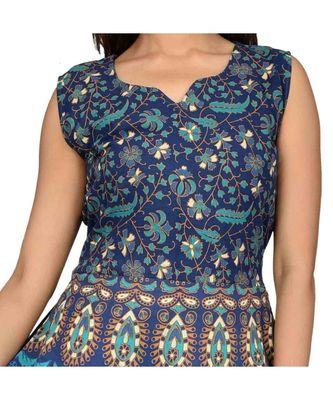 multicolor Sleeves Cotton Printed kurti's