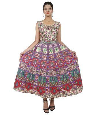 multicolor Cotton Jaipuri (Bagru) Printed kurti's For Women's