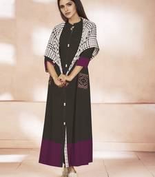 Multicolor embroidered cotton poly cotton-kurtis