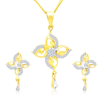Gold cubic zirconia pendants