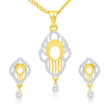 Gold cubic zirconia pendants