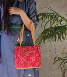Rajasthan Memories Hand Bag In Pink