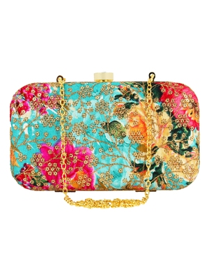 Ethnique Embroidered Party Clutch Multi