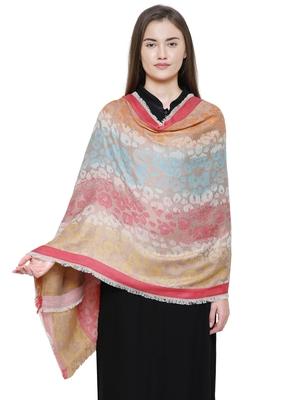 Multi Cotton Viscose Animal Woven Design Shawl