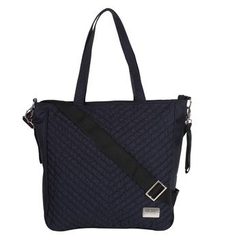 Eva Black Solid Leatherette Handbag