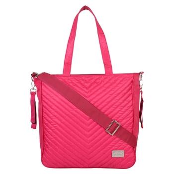 Eva Pink Solid Leatherette Handbag