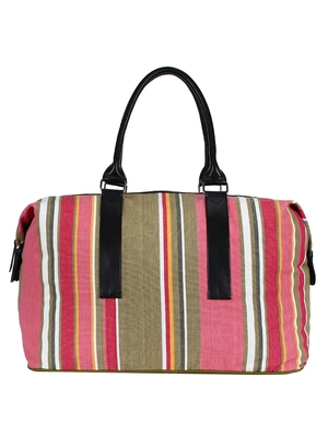 Streak Cotton Travel Bag Multicolour