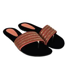 Do Bhai red Flat Sandal For Women
