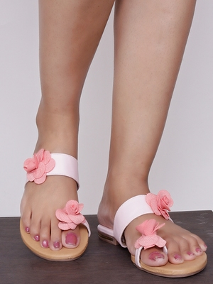 Do Bhai pink Flat Sandal For Women