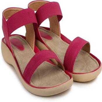 Do Bhai red Flat Sandal For Women
