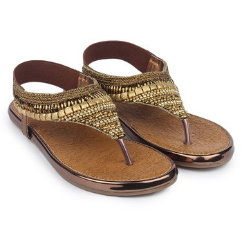 Do Bhai brown Flat Sandal For Women