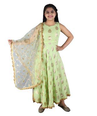 Floor length Anarkali Suit with Heavy Dupatta