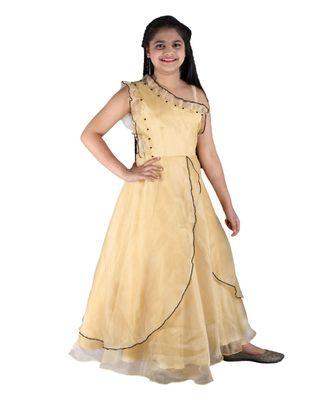 Golden Floor Length Gown
