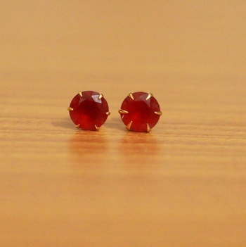 Red Cubic Zirconia Studs