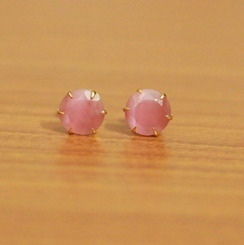 Pink Cubic Zirconia Studs