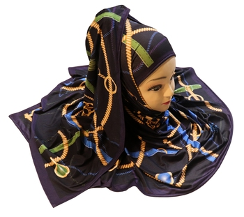 Justkartit Women'S Occasion Wear Jersey Stretchable Material Digital Printed Hijab Scarf Dupatta