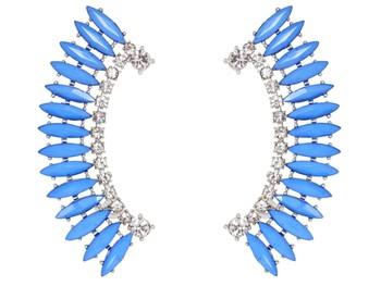 Blue Princess Cuff Earrings