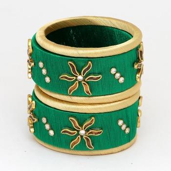 Green Bangles And Bracelets