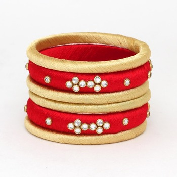 Maroon Bangles And Bracelets