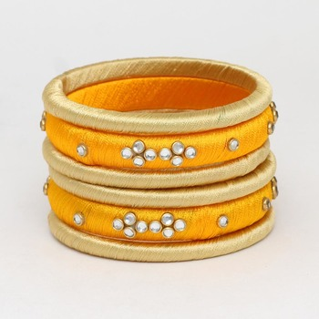 Yellow Bangles And Bracelets