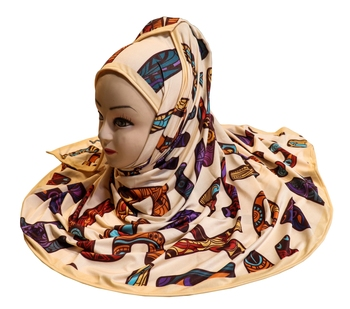 Justkartit Jersey Stretchable Casual Wear Printed Hijab Scarf Dupatta For Women