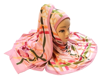 Justkartit Women'S Occasion Wear Digital Printed Jersey Stretchable Hijab Scarf Dupatta.