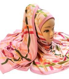 Justkartit Women'S Occasion Wear Digital Printed Jersey Stretchable Hijab Scarf Dupatta.