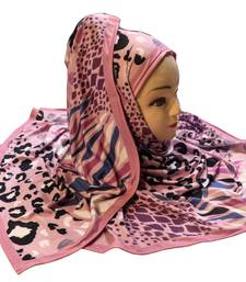 Justkartit Women's Outdoor Wear Designer Digital Printed Jersey Stretchable Hijab Scarf Dupatta