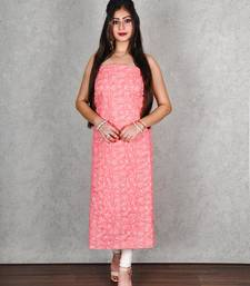 DARK PINK GEORGETTE KURTA WITH CHIKANKARI TEPCHI JAAL WORK